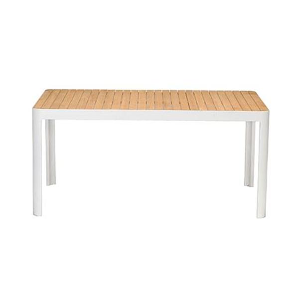 Adelphi Outdoor Dining Table, White  Aluminium